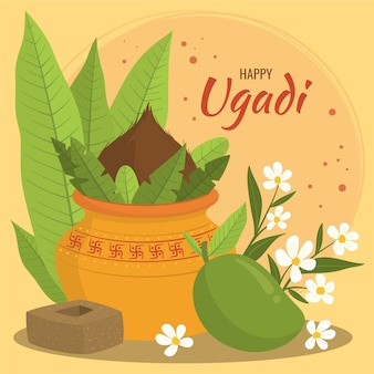 Ugadi dessiné à la main