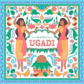 Ugadii dessinés à la main
