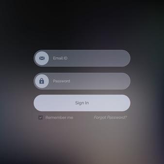 Ui sombre pour la conception formulaire de connexion