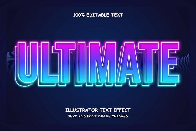 Ultime, effet de texte modifiable en 3d style moderne bleu rose
