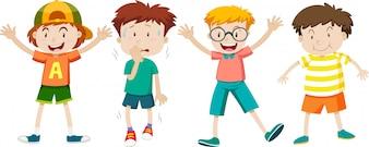 Un ensemble d'expression d'enfants