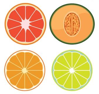 Un ensemble de fruits tranchés