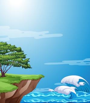 Un paysage de falaise nature