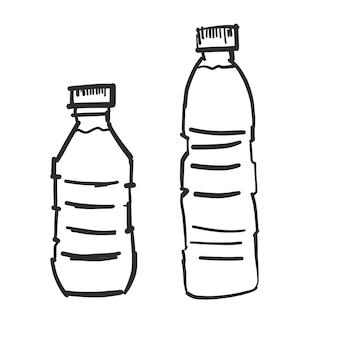 Une bouteille d'eau doodle