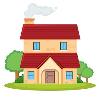 Une maison à deux étages