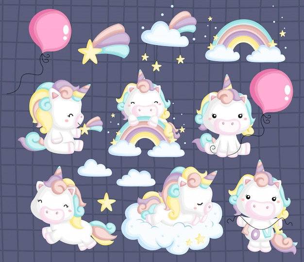 Unicorn image set