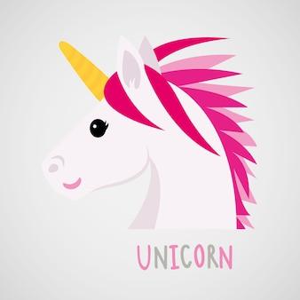 Unicorns horse cute dream fantasy vecteur de personnage de dessin animé