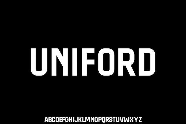Uniford, police de caractères condensée urbaine