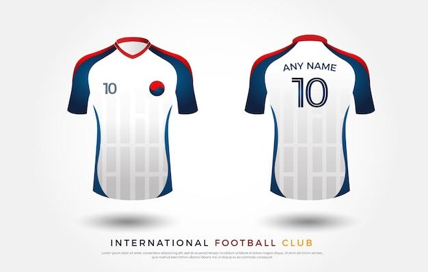 Uniforme de conception de t-shirt de football