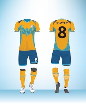 Uniforme de football bleu jaune