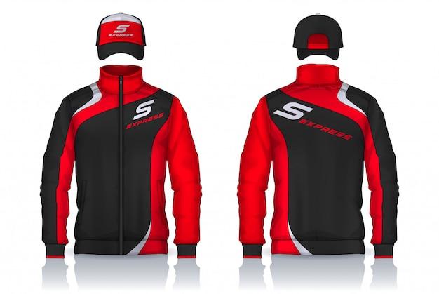 Uniforme de livraison, conception de modèles de veste et casquette, chemises de travail d'entreprise.