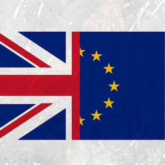 Union européenne et unie drapeau du royaume