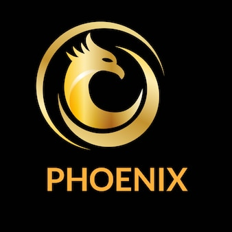 Unique phoenix logo design vector