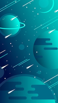 Univers fond d'écran mobile avec des planètes