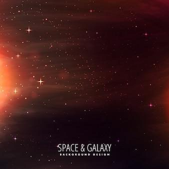 Univers rempli d'étoiles