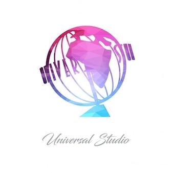 Universal studio monument polygon logo
