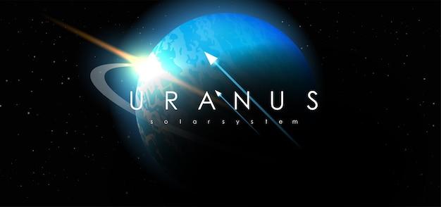 Uranus sur fond de l'espace