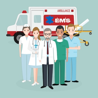 Urgence, équipes médicales de sauvetage