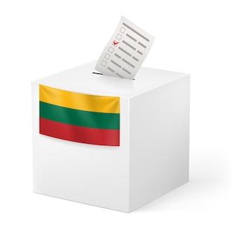 Urne avec illustration de papier de vote