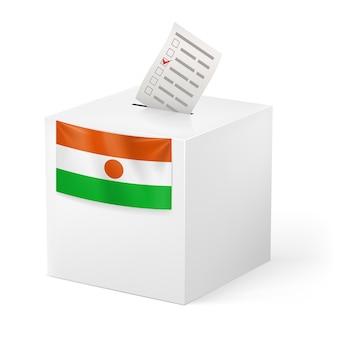 Urne de vote drapeau nation2 illustration