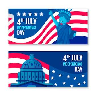 Usa 4 juillet bannières de la maison blanche