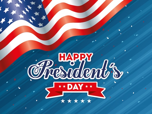 Usa happy presidents day united states america independance nation us country and national card