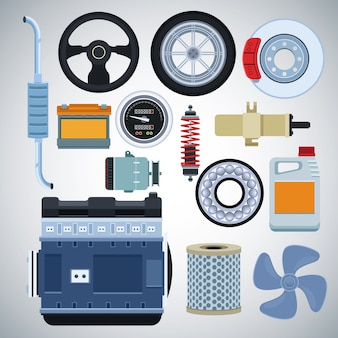 Usine automobile et ses pièces