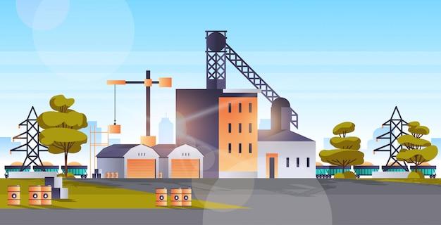 Usine fabrication bâtiment zone industrielle