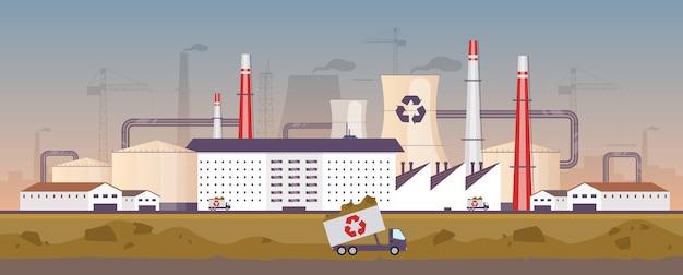 Usine de gestion des déchets