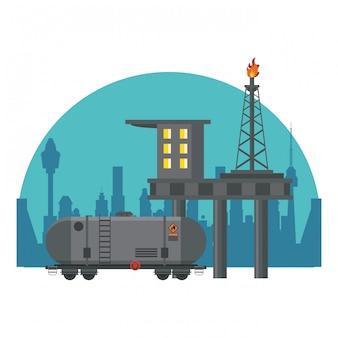 Usine de machines à pétrole
