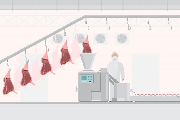Usine de porc et de viande avec machines automatiques