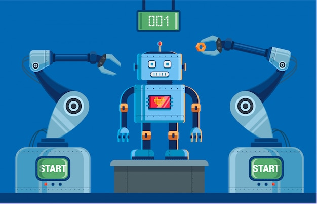 Usine pour la production de robots à griffes