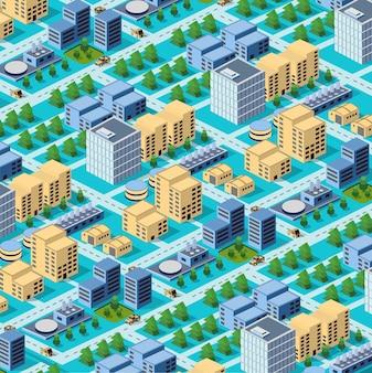 Usines, Entrepôts Et Immeubles De Bureaux Dans Les Zones Urbaines Des Grandes Villes Vecteur Premium