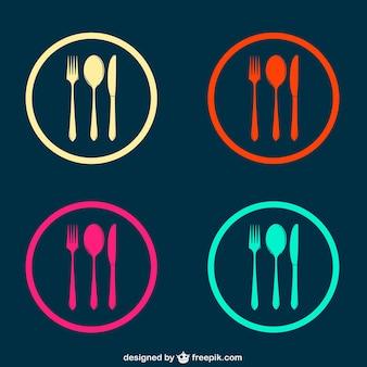 Ustensiles de cuisine vecteur minimaliste