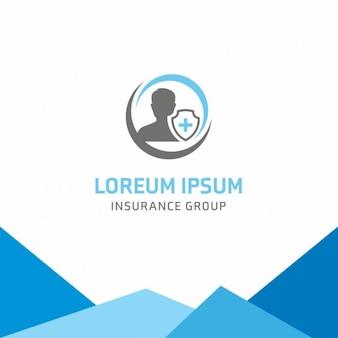Utilisateur d'assurance maladie logo template