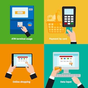 Utilisation de cartes de crédit en plastique