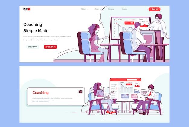 Utilisation du modèle de pages de destination de coaching comme en-tête