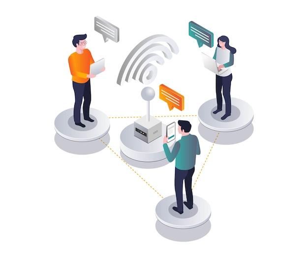 Utilisation du wifi pour la communication réseau dans la conception isométrique
