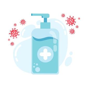 Utilisez les étapes d'instructions sur le désinfectant pour bien vous laver les mains