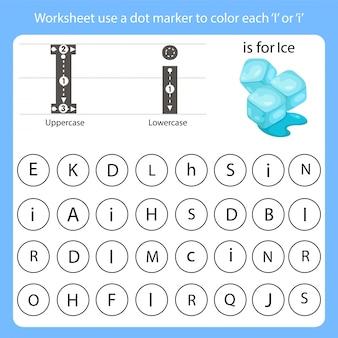 Utilisez un marqueur pour marquer chaque feuille de travail.
