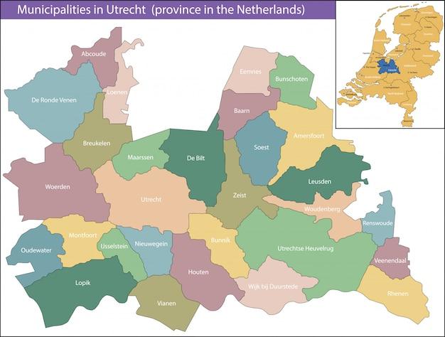 Utrecht est une province des pays-bas