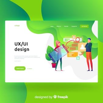 UX, page de destination de conception d'interface utilisateur