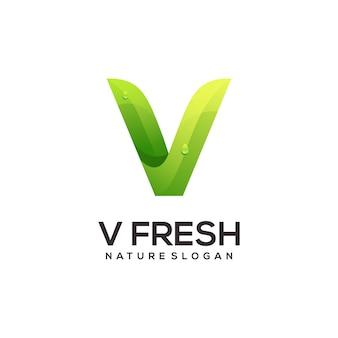 V lettre logo illustration coloré résumé
