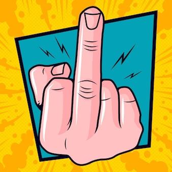 Va te faire foutre symbole dans le style bande dessinée