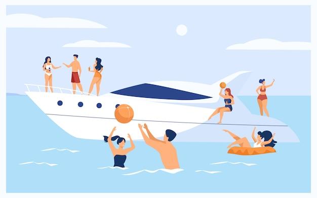 Vacances sur le concept de yacht