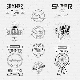 Vacances d'été badges logos et étiquettes pour tout usage