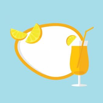 En vacances d'été, concept de vacances d'été avec cadre de boisson et de fond de fruits froids pour texte