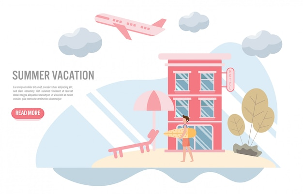 Vacances d'été et concept de voyage