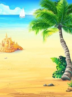 Vacances d'été de fond avec illustration du soleil