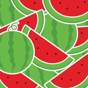 En vacances d'été, fond de melon d'eau